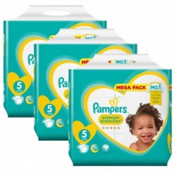 Pampers - Mega pack 150 Couches New Baby Premium Protection taille 5 sur Les Couches