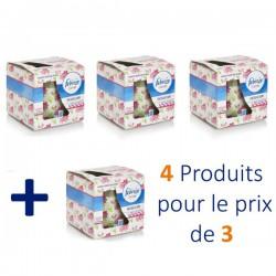 Febreze - 4 Bougies Parfumées Flower Bloom - 4 au prix de 3 sur Les Couches