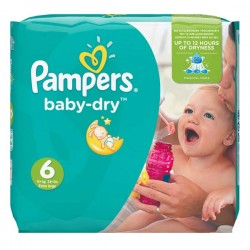 LesCouches Pack 58 couches Pampers Baby Dry