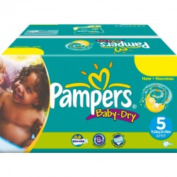 Pampers - Mega pack 198 Couches Baby Dry taille 5 sur Les Couches