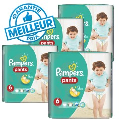 Pampers - Pack 42 Couches Baby Dry Pants taille 6 sur Les Couches