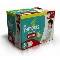 Pampers - Giga pack 288 Couches Baby Dry Pants taille 5 sur Les Couches
