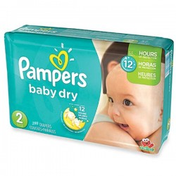 Pampers - 290 Couches Baby Dry taille 2
