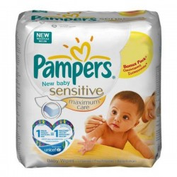 Pampers - 200 Lingettes Bébés New Baby Sensitive - 4 Packs de 50 sur Les Couches